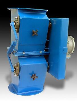 material handling double dump valve