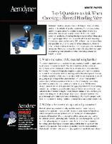 Industrial Material Handling Valve Questions