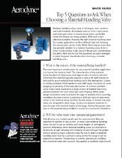 Material Handling Questions